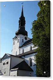 Cathedral Of Saint Mary The Virgin In Tallinn Acrylic Print by Christopher Mullard