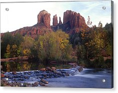 Acrylic Print featuring the photograph Cathedral Rock by Darleen Stry