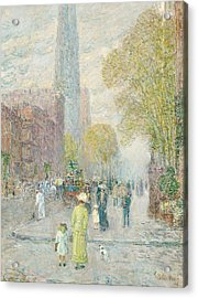 Cathedral Spires Acrylic Print by Childe Hassam