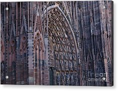 Catherdral In Strasbourg Germany Acrylic Print