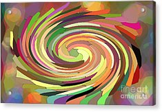 Cat's Tail In Motion. Stained Glass Effect. Acrylic Print by Ausra Huntington nee Paulauskaite