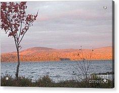 Caucomgomoc Lake Sunrise In Maine Acrylic Print