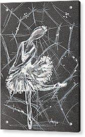Caught In A Web  Acrylic Print by Sladjana Lazarevic