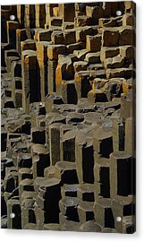 Causeway Stones Acrylic Print by Cat Shatwell
