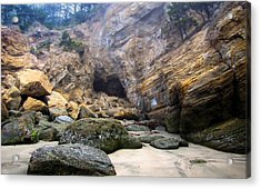 Acrylic Print featuring the photograph Cave At The Beach by Katie Wing Vigil