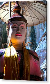Cave Buddha Acrylic Print by Adrian Evans