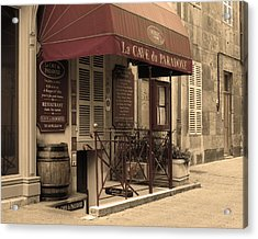 Cave Du Paradoxe Wine Shop In Beaune France Acrylic Print by Greg Matchick