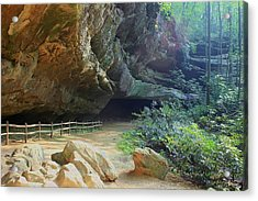 Acrylic Print featuring the photograph Cave Entrance by Myrna Bradshaw