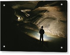 Cavers Stand In The New Discover Acrylic Print by Stephen Alvarez