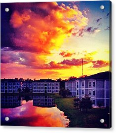 #ccu #sunset 🌇 Acrylic Print