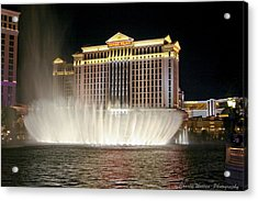 Ceasars Palace Acrylic Print by Charles Warren