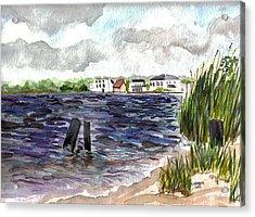 Acrylic Print featuring the painting Cedar Beach by Clara Sue Beym