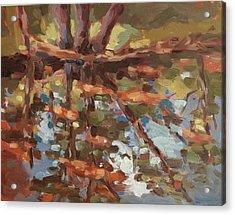Cedar Creek Reflection Acrylic Print by Jenny Anderson