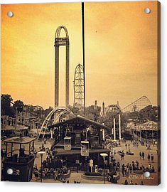 #cedarpoint #ohio #ohiogram #amazing Acrylic Print by Pete Michaud