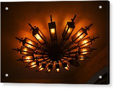 Ceiling Light At One O Clcok Acrylic Print by Dietrich Sauer
