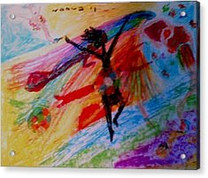 Celebration Of Life.. Be..2 Acrylic Print by Rooma Mehra