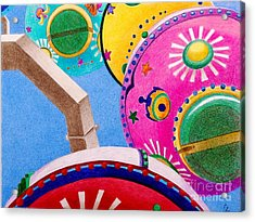Celestial Ferris Wheel Acrylic Print by Glenda Zuckerman