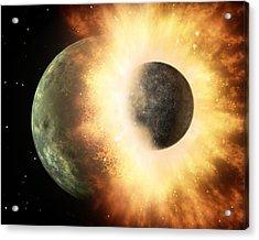 Celestial Impact, Artwork Acrylic Print by Nasajpl-caltech