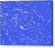 Celestial Swirl In Blue Acrylic Print by Grace Dillon