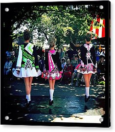Celtic Dancing @ Syttende Mai Acrylic Print by Natasha Marco