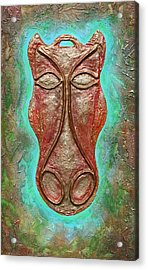 Celtic Horse Head Mask Acrylic Print by Zoran Peshich