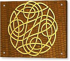 Celtic Knot Acrylic Print by Keith Cichlar
