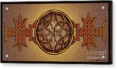 Acrylic Print featuring the mixed media Celtic Knotwork Enamel by Kristen Fox