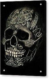 Celtic Skull Acrylic Print