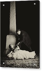 Cemetary Romance Acrylic Print by Darcy Evans