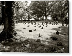 Cemetery At Mud Meeting House Acrylic Print by Mark Jordan