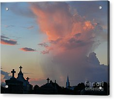Acrylic Print featuring the photograph Cemetery Skies by Jeanne  Woods