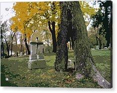 Acrylic Print featuring the photograph Cemetery Tree by Kimberly Mackowski