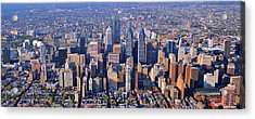 Acrylic Print featuring the photograph Center City Aerial Photograph Skyline Philadelphia Pennsylvania 19103 by Duncan Pearson