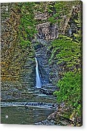 Central Cascade Of Watkins Glen Acrylic Print by Joshua House
