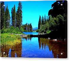 Central Oregon Tranquility  Acrylic Print by Nick Kloepping