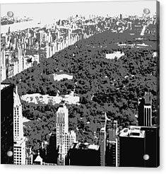 Central Park Bw3 Acrylic Print by Scott Kelley