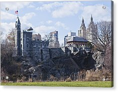 Central Park Castle Acrylic Print by Theodore Jones