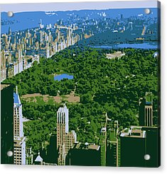Central Park Color 6 Acrylic Print