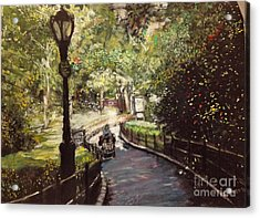 Central Park Upper East Side Acrylic Print by Barry Rothstein