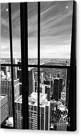 Central Park Window Acrylic Print by Holger Ostwald