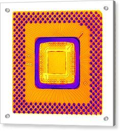 Central Processor Acrylic Print by Ted Kinsman