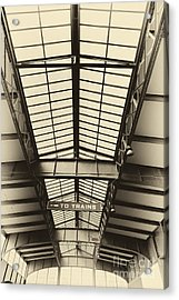 Central Railroad Of New Jersey  Acrylic Print by Leslie Leda