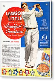 Cereal Advertisement, 1937 Acrylic Print by Granger