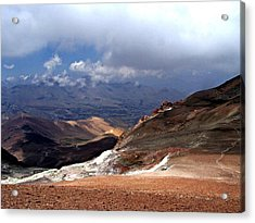 Cerro El Pintor Chile Acrylic Print by Sandra Lira