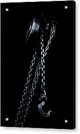 Acrylic Print featuring the photograph Chain And Hook by Tom Singleton