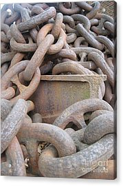 Chain Gang Acrylic Print by Nancy Dole McGuigan