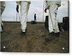 Chain Gang Prisoners Being Watched Acrylic Print by Bill Curtsinger