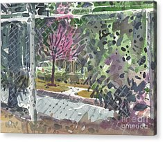 Chain Link Fence Acrylic Print by Donald Maier