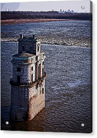 Chain Of Rocks East Water Tower Acrylic Print