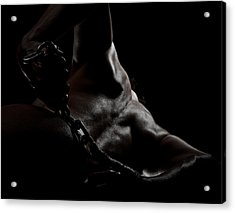 Chain On Nude Acrylic Print by Scott Sawyer